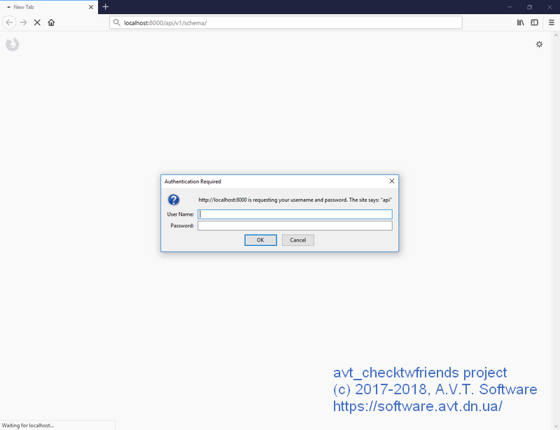 avt_checktwfriends project. Authentication required for API endpoint.